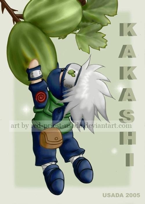 Chibi Fruit Ninja - Kakashi