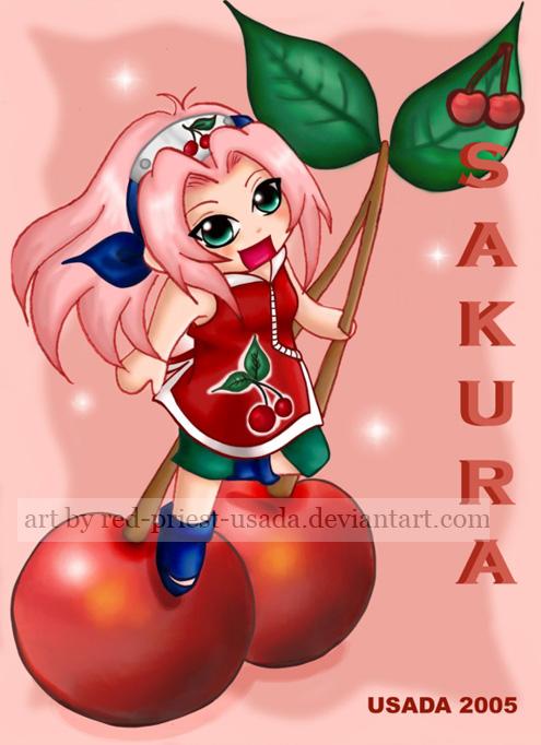 Chibi Fruit Ninja - Sakura