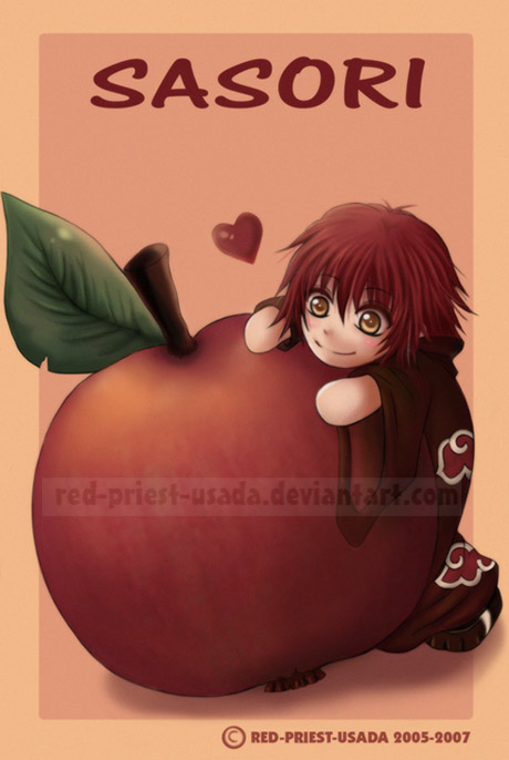 Chibi Fruit Ninja - Sasori