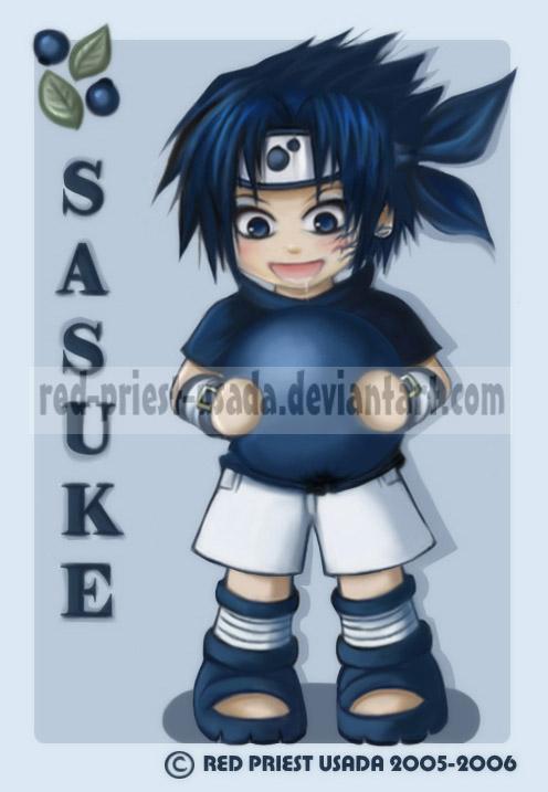 Chibi Fruit Ninja Sasuke