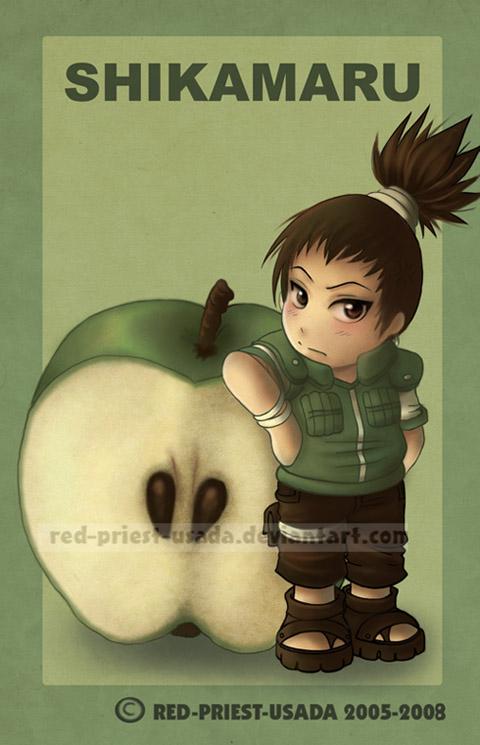 Chibi Fruit Ninja Shikamaru