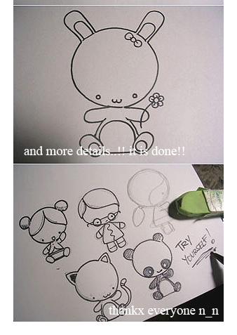 Draw a chibi bunny tutoriaL