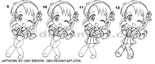 How I draw chibi girl