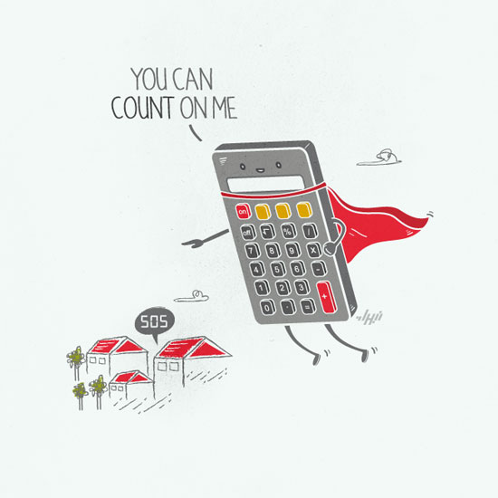 Count On Me Conceptual Vector Design Print