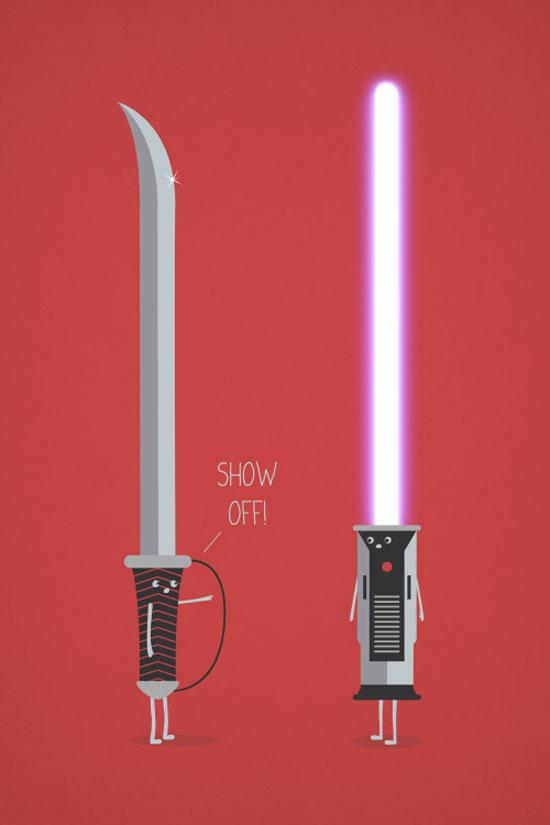 Show Off Conceptual Vector Design Print