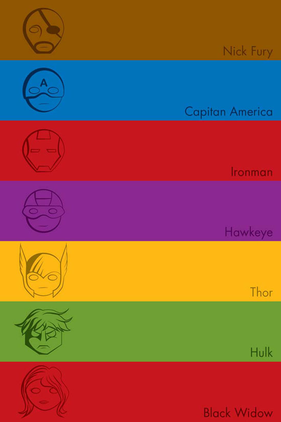 Avengers Poster Conceptual Vector Design Print
