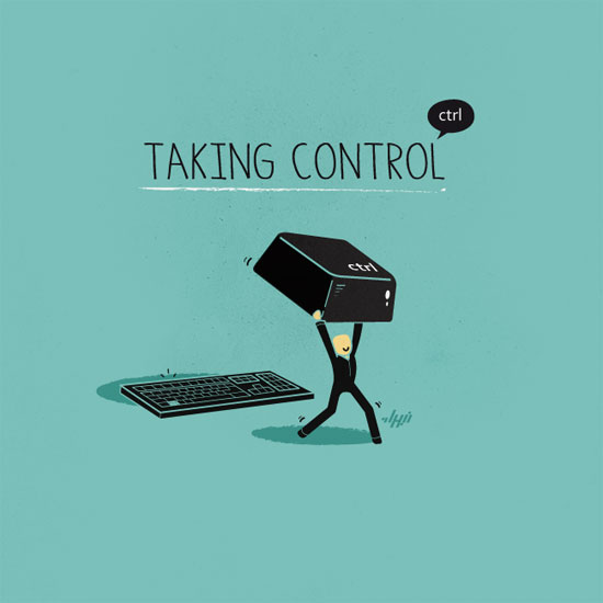 Taking Control Conceptual Vector Design Print