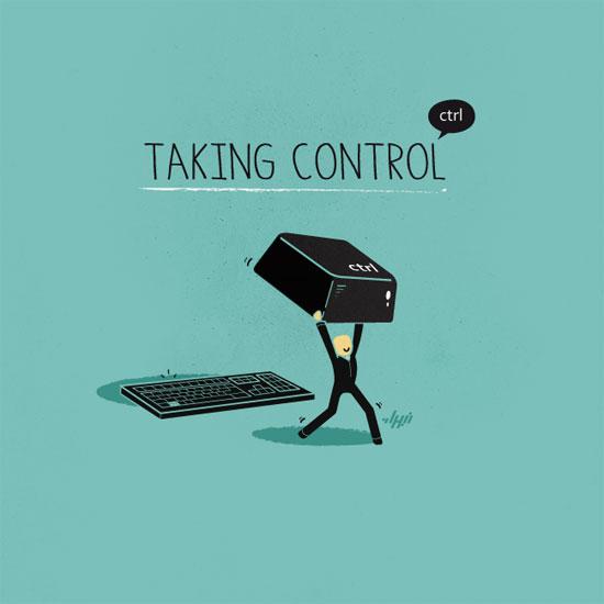 Taking Control Conceptual Vector Design Print