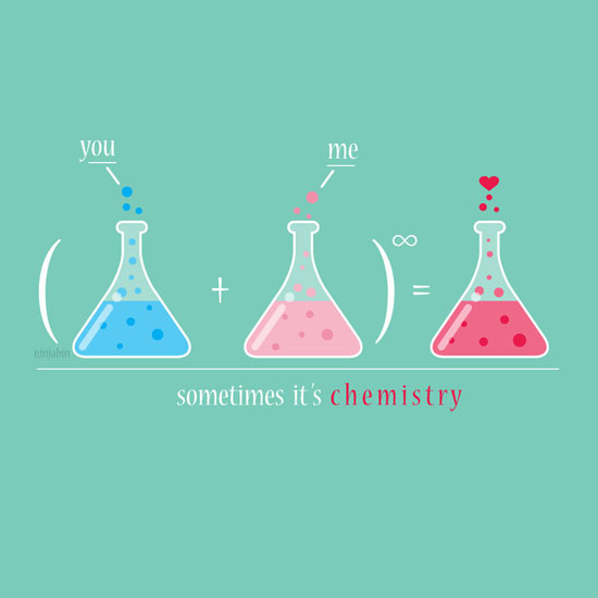 Sometimes it's chemistry Conceptual Vector Design Print
