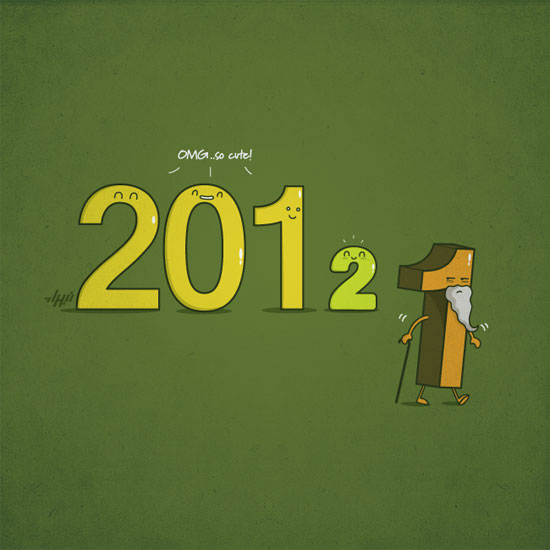 New year Conceptual Vector Design Print