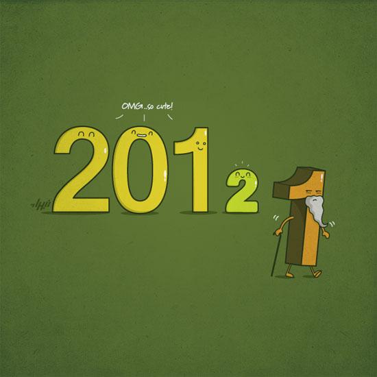 New year Conceptual Vector Design Print