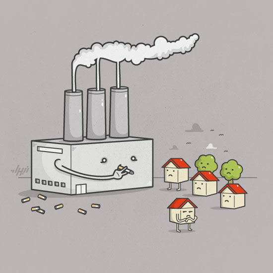 Smoker Conceptual Vector Design Print