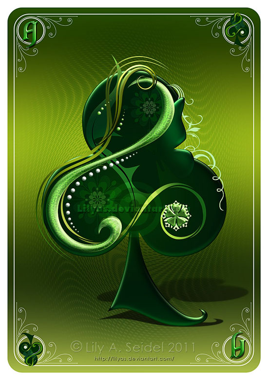 Ace of Clubs CARD Conceptual Vector Design Print