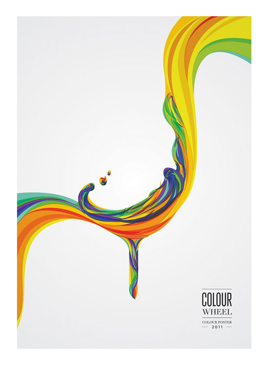 Colour Wheel Poster Conceptual Vector Design Print