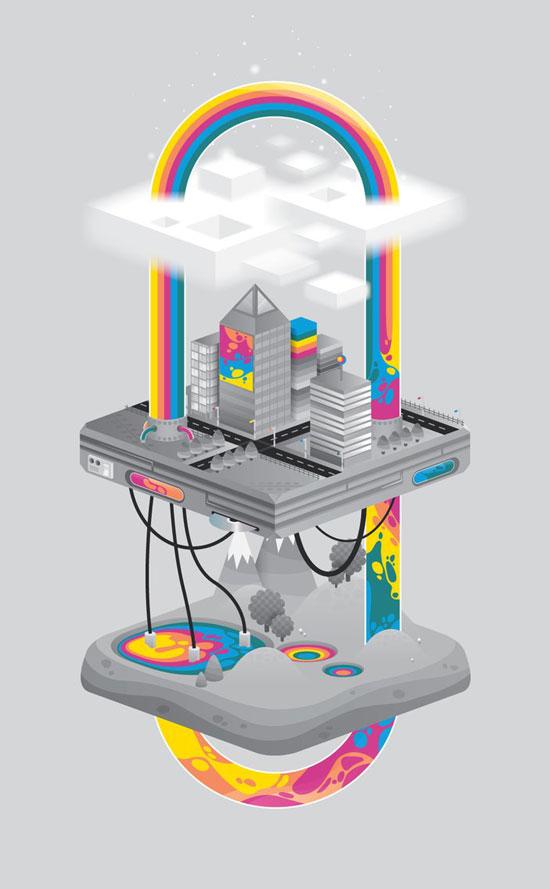 Reading rainbow Conceptual Vector Design Print