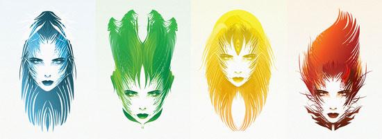 Seasons Conceptual Vector Design Print