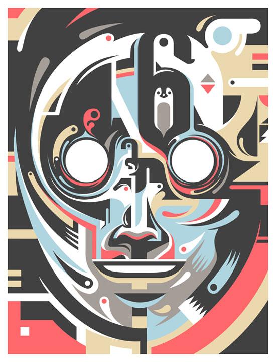 Mask Conceptual Vector Design Print