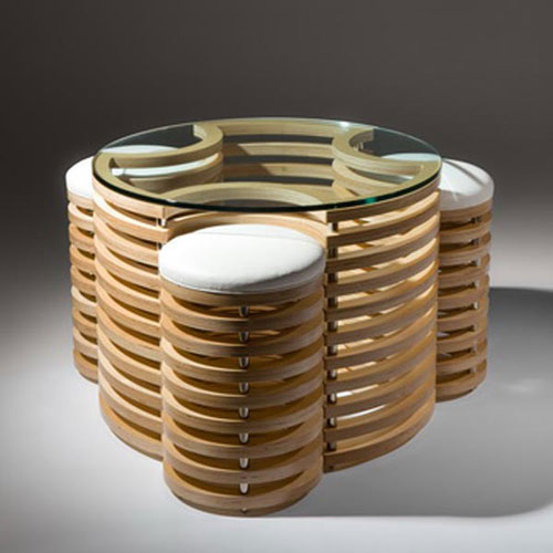 3D Coffee Table and Stools - Cool Examples Of Innovative Furniture Design