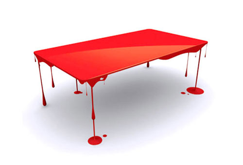 Paint Drip Table Innovative Furniture Design Coffee Tables Chairs Sofas