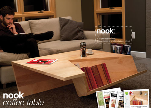 Nook Coffee table - Cool Examples Of Innovative Furniture Design