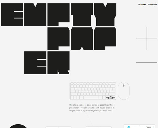 emptypaper.net site design