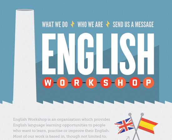 englishworkshop.eu site design