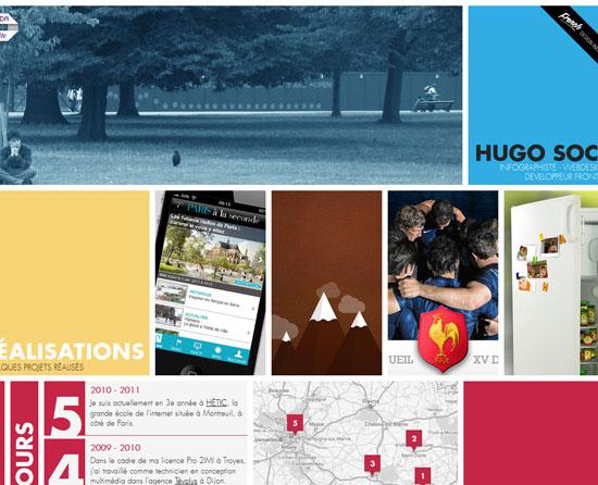 hugosocie.fr site design