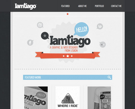 i-am-tiago.com site design