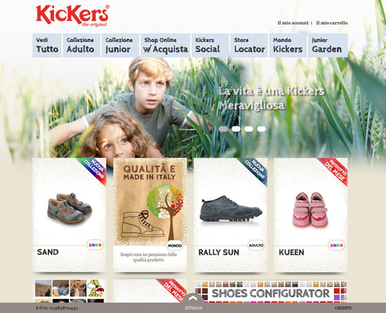 kickers.it site design