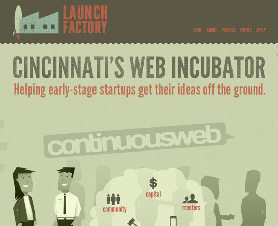 launchfactory.org site design