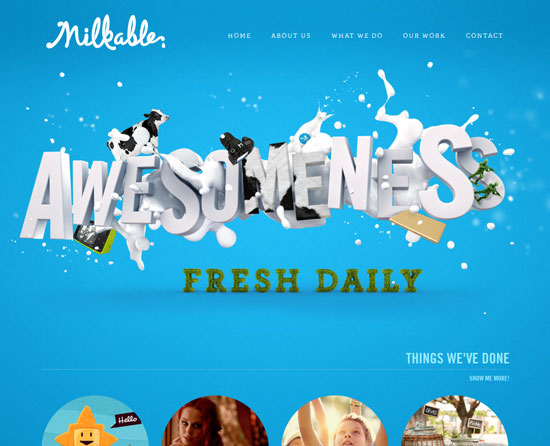 milkable.me site design