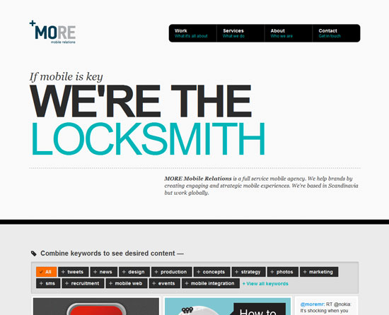 moremobilerelations.com site design