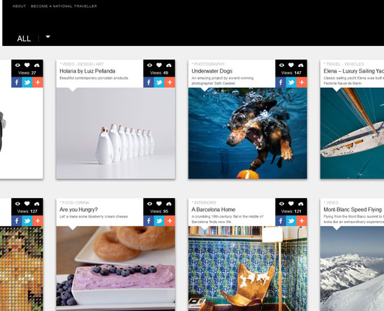 nationaltraveller.com site design