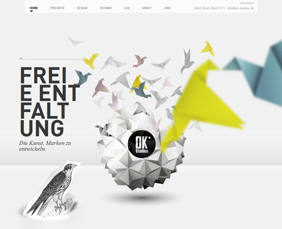 ok-studios.de site design