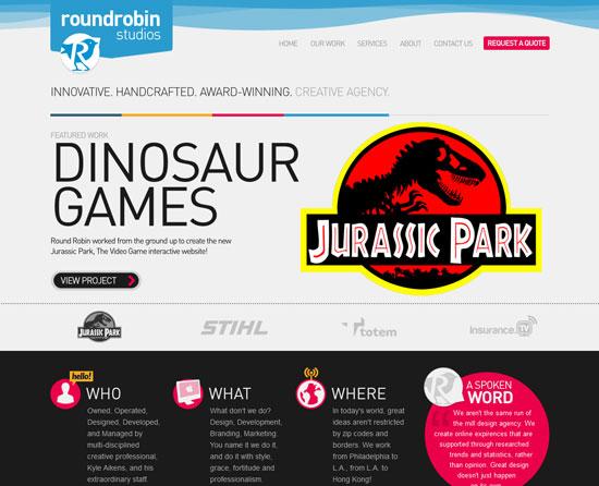 Roundrobinstudios_com Cool New Web Design Inspiration   30 Sites
