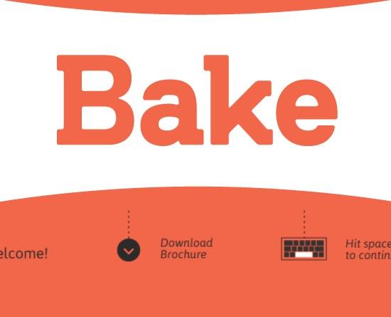 bakeagency.it site design