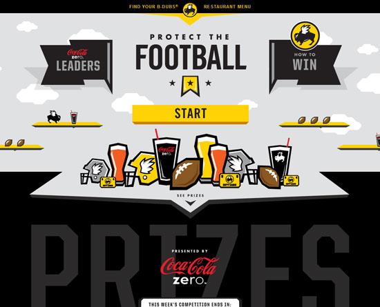 buffalowildwings.com/protectthefootball site design