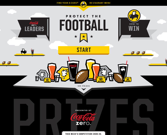 buffalowildwings.com/protectthefootball site design