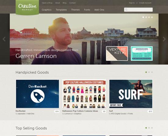 creativemarket.com site design