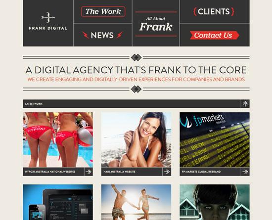 frankdigital.com.au site design