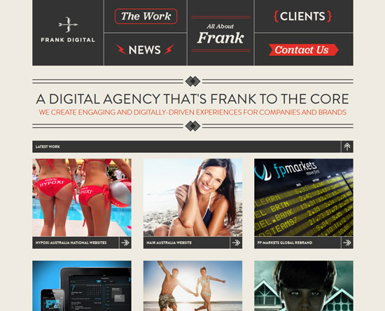 frankdigital.com.au site design