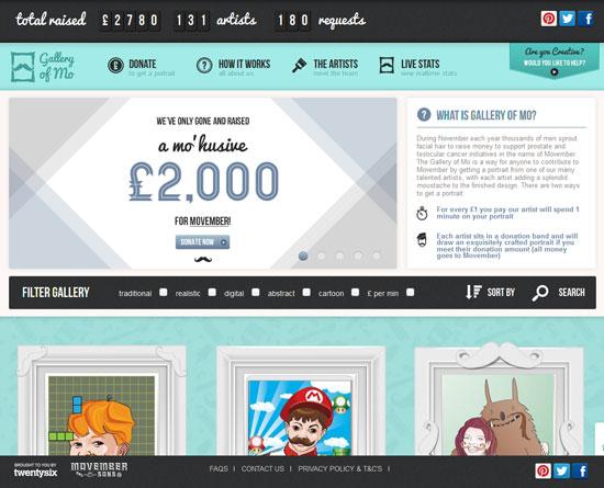 galleryofmo.com site design