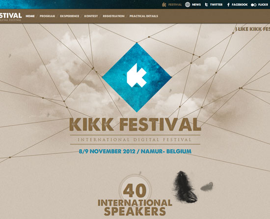kikk.be/2012 site design
