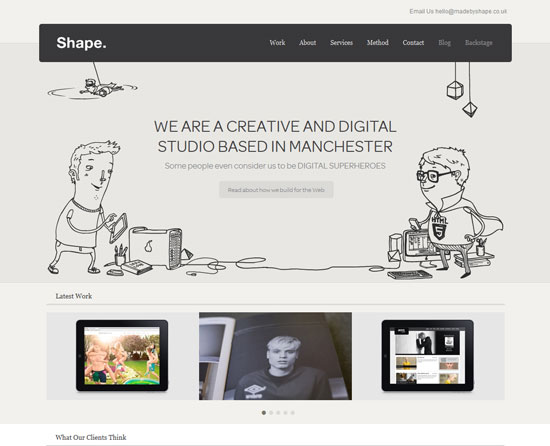 madebyshape.co.uk site design