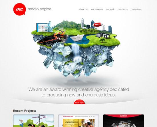 mediaengine.com.au site design
