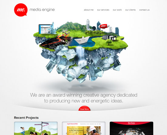 mediaengine.com.au site design