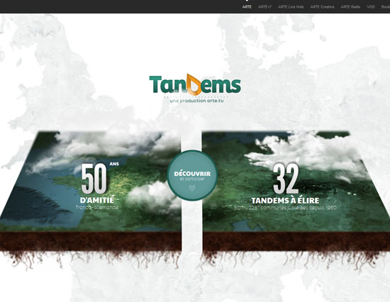 tandems.arte.tv site design