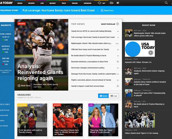 usatoday.com site design