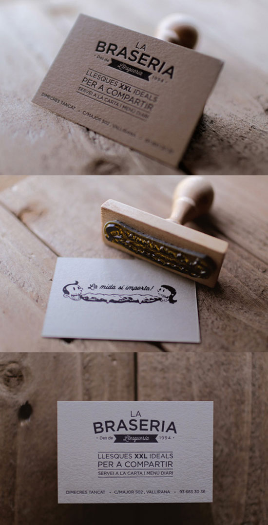 La Braseria Business Card