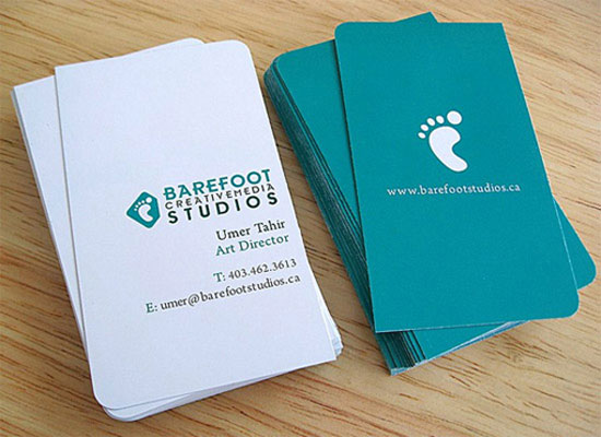 Barefoot Studios Business Card